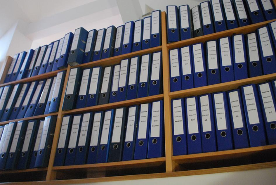 Ein Teil des Archivs deutscher Wassertürme