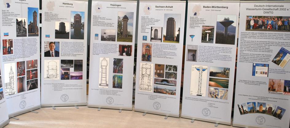 Ausstellung über Wassertürme letzte Tafeln