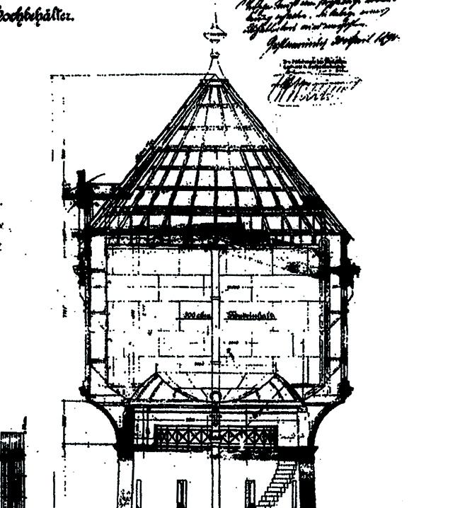 Wasserturm mit Intze II Behälter in Bremerhaven-Geestemünde