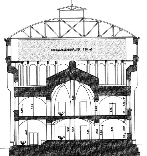 Wasserturm in Zittau mit Flachbodenbehälter